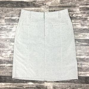 Club Monaco Gray Corduroy Pencil Skirt Sz 4